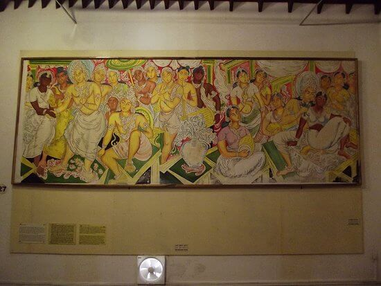 Paintings at Painting Museum Dambulla 1